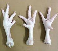 chicken- feet